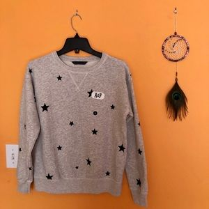 Abercrombie and Fitch Printed Crewneck Sweatshirt